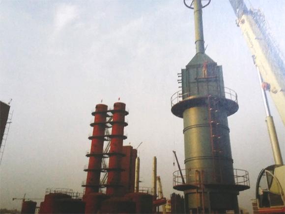 公司正在施工建设的脱硫工段总承包项目